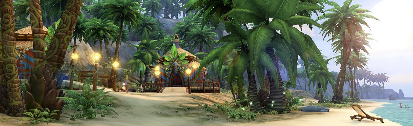 Allods Online — Тропический Атолл к одному из игровых эвентов.