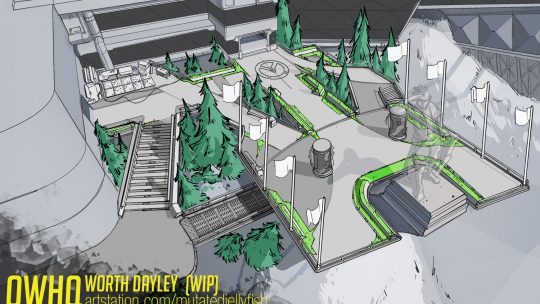 Overwatch HQ: Creating A Game Level for Portfolio